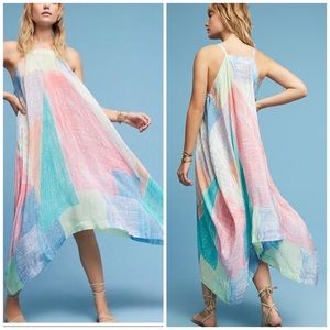 Anthropologie Lilka Annette colorful maxi dress